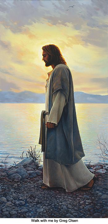 Walk With Me. Art by Greg Olsen