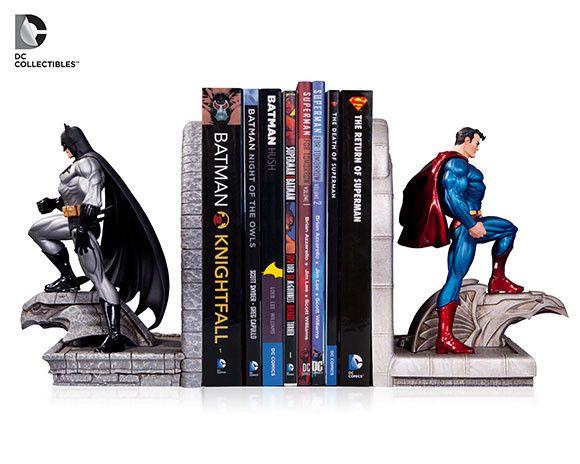 Collectible Close-Up: DC Comics Superman and Batman Bookends   DC Comics