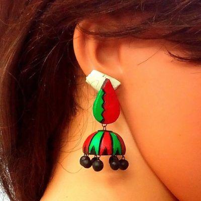 terracotta earrings studs