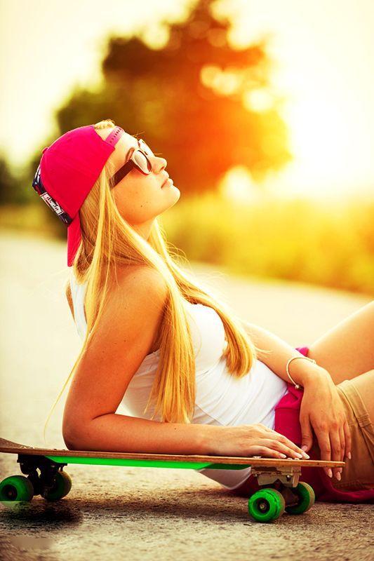 Skate #girl is on relax.