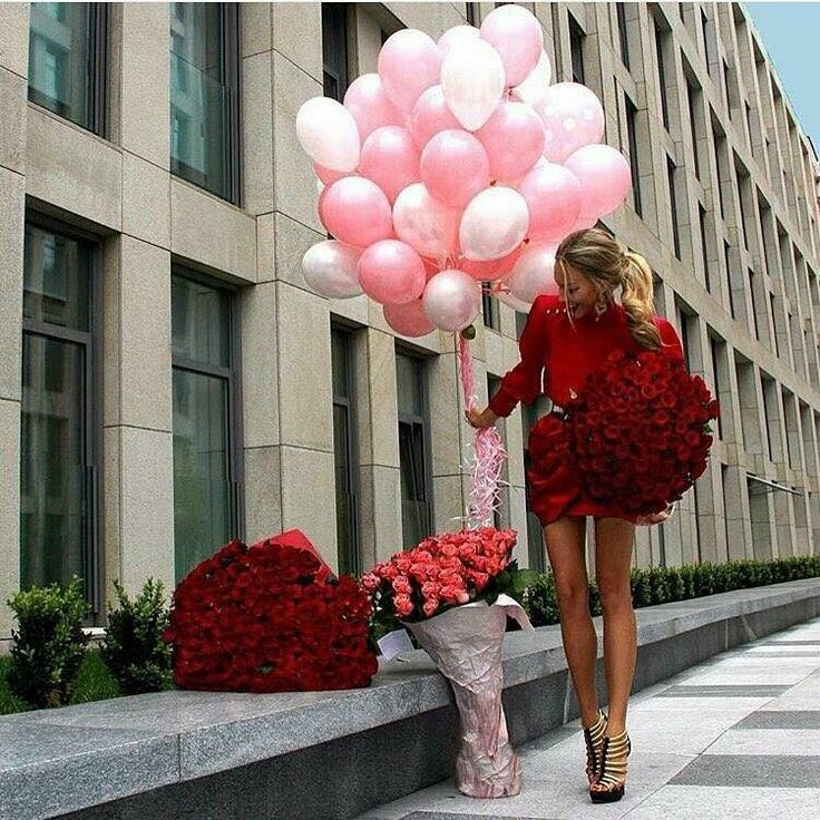 Sorpresa red rose palloncini wow fashion day love day