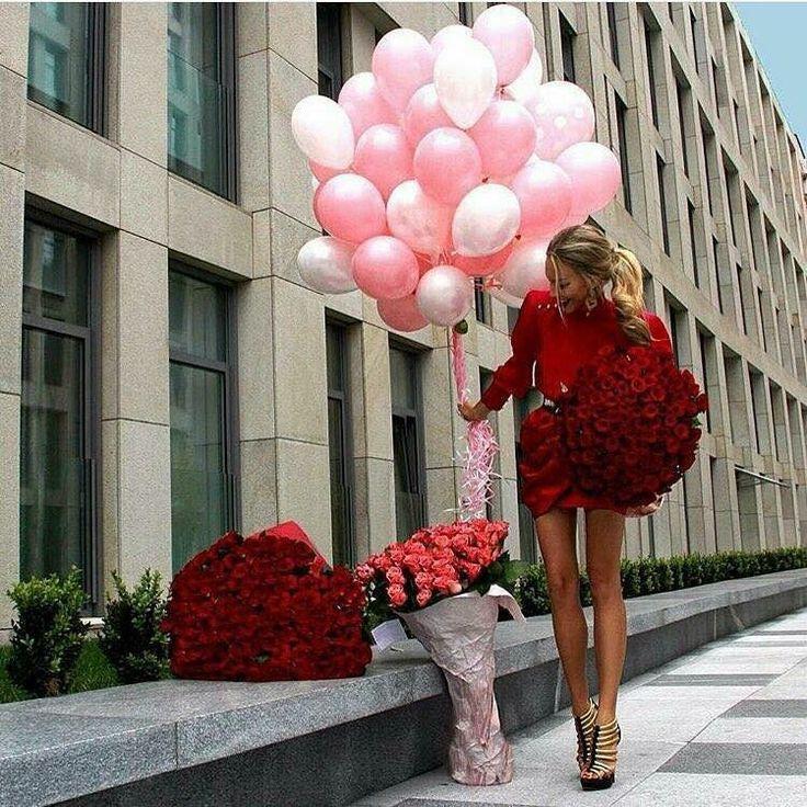 Sorpresa red rose palloncini wow fashion day love day