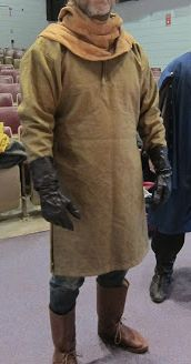 An SCA approved fencing tunic based on 11th century Viborg shirt.