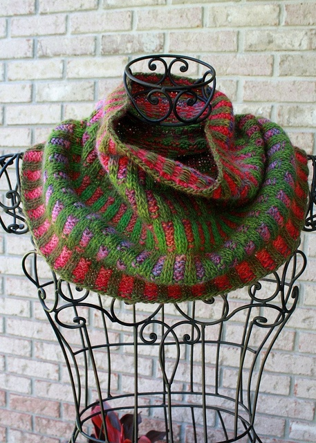 """Enchanted Forest"" by Velveta. Pattern Inspira Cowl by graphica FREE on Ravelry."