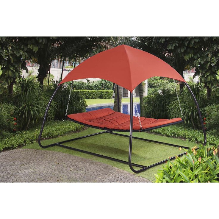 Sunjoy Pyramid Day Bed | Outdoor beds, Patio, Canopy outdoor