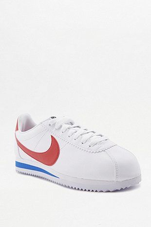 Nike Cortez White Red And Blue Leather Trainers