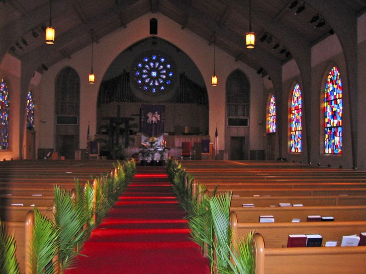 Ready for Palm Sunday in 2005 at First Presbyterian Church, Homestead, Florida