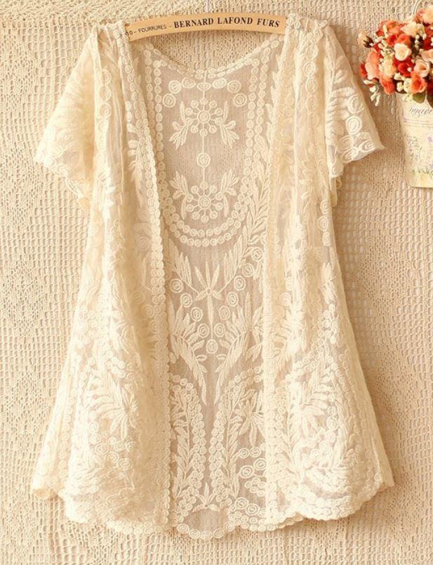 Lace Crochet cardigan
