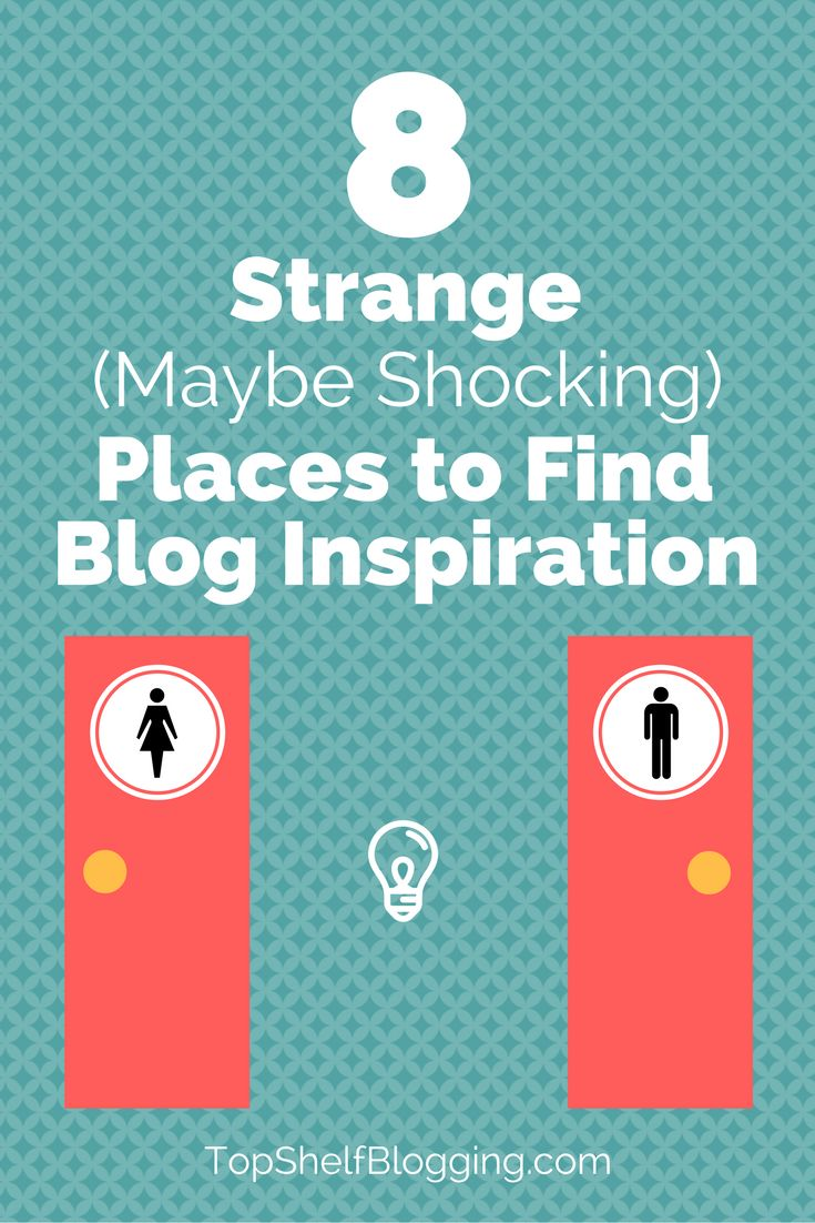 Have you found blog inspiration in any of these places? Don't lie. haha #entrepreneur #blogger