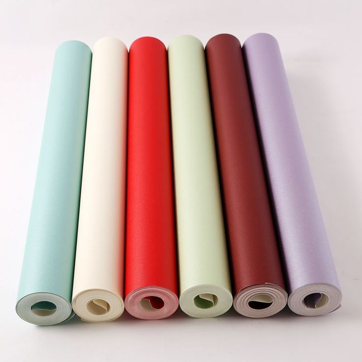Modern Wallpapers Home Decor Solid Color Wallpaper Purple Red Waterproof Wall Paper Roll Decorative Living Room papel de pared