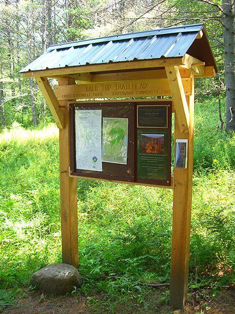 Classic Trailhead Kiosk: A Timber Frame Sign Board:
