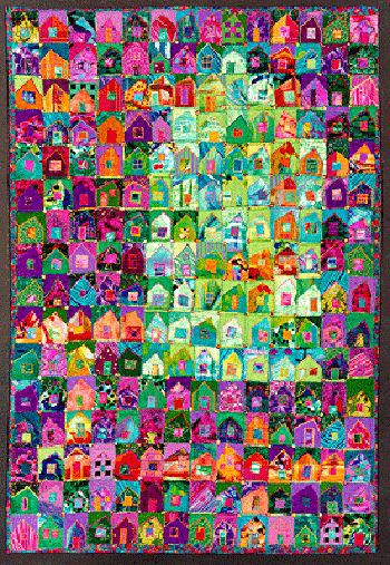 fabulous house quilt!: Colour, Sally Seller, Galleries Artists, Crafts Ideas, Creative Ideas, Quilts House, Beautiful Colors, Fabulous Houses, Cute Ideas