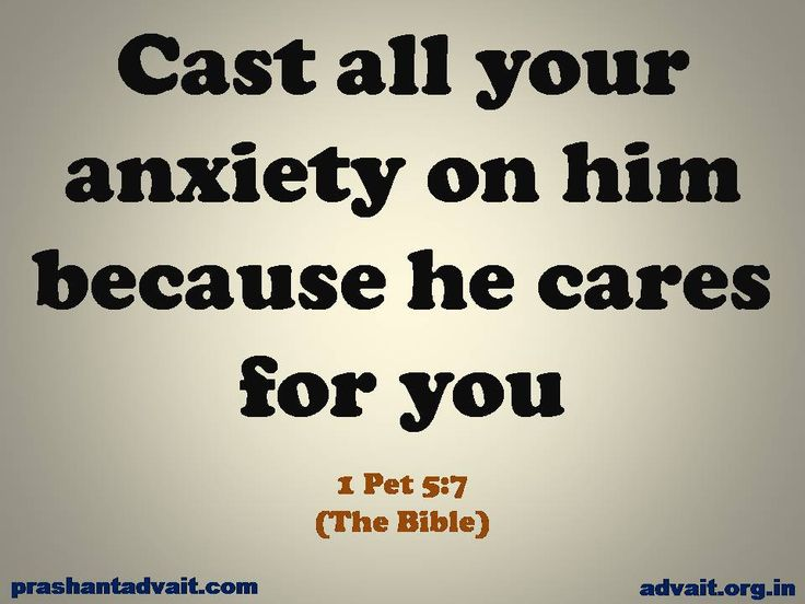 Cast all your anxiety on him because he cares for you. ~ Bible  #ShriPrashant #Advait #anxiety #care #Jesus #Bible #awareness #individual Read at:- prashantadvait.com Watch at:- www.youtube.com/c/ShriPrashant Website:-www.advait.org.in Facebook:- www.facebook.com/prashant.advait LinkedIn:- www.linkedin.com/in/prashantadvait Twitter:- https://twitter.com/Prashant_Advait