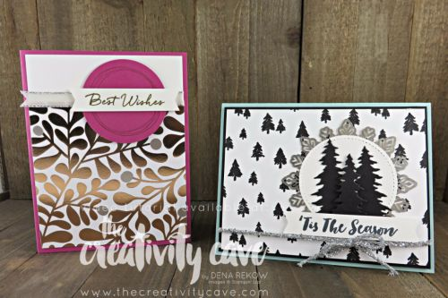 Great Video showcasing this and another card with METALLIC accents featuring Sampin Up's Card Front Builder Framelits, Foil Snowflakes, Year of Cheer Stamp Set and more at www.thecreativitycave.com #stampinup #thecreativitycave #videotutorial #yearofcheer #handmadegreetingcards #rubberstamping #papercrafts #diy #cardmaking #printedpaper #scrapbookpaper #diecutting #bigshot #Christmas #alloccasion #bloomsandwishes