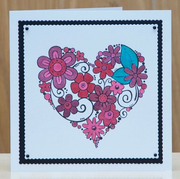 Woodware , Blooming Heart. Painted with Pixie powders.