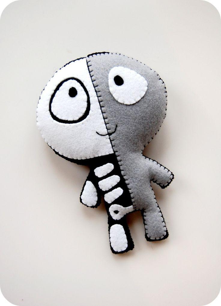 The Half Plush / Eco Friendly Handmade Stuffed Toy. $28.00, via Etsy.