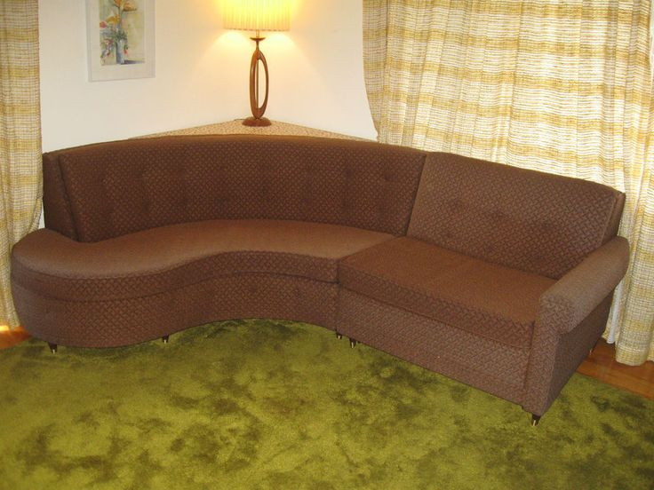 Mid Century Modern Castro Convertible Curved Sleeper Sofa