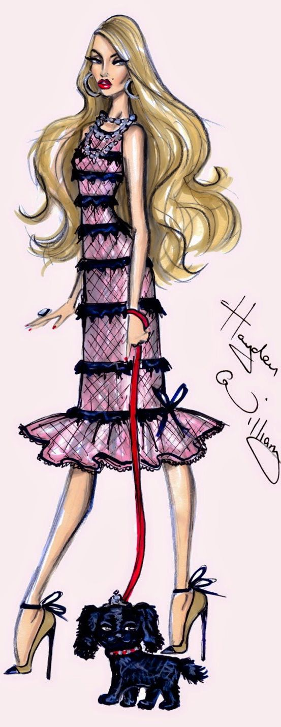 Fashion Illustration by Hayden Williams   House of Beccaria~