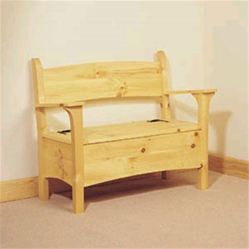 Deacon's Bench Plan Add extra seating and valuable storage space wherever you need it! Distinctive deacon's bench boasts ample,  Hinged-seat storage and comfort for your guests. Perfect in a hallwa