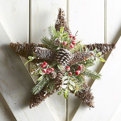 Natural Pine Berry Star Wreath | Pier 1 Imports