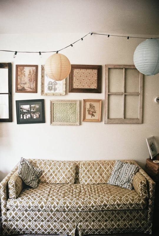 Cozy living room. I wonder if anyone actually has such a hipster couch like that