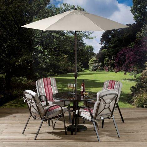 comfortable garden furniture. bari 4 seat dining set with stacking chairs comfortable garden furniture a