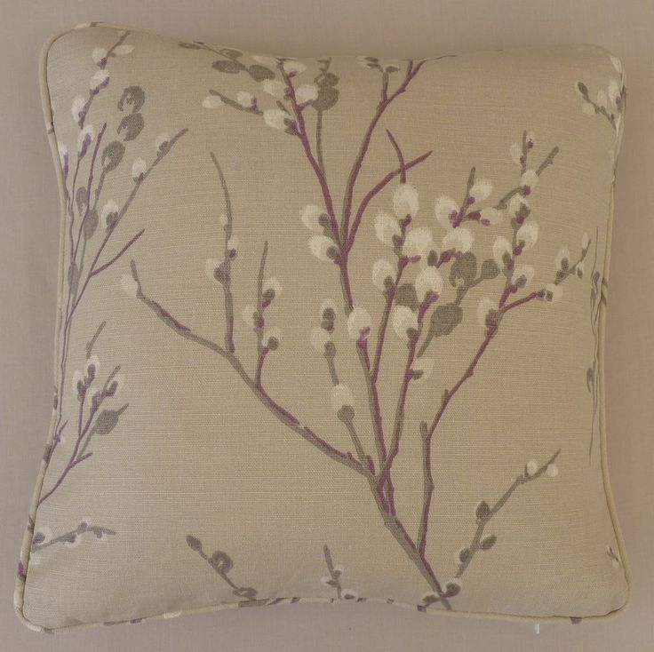 Laura Ashley Fabric 16  Cushion Cover / Complete Cushion -  Pussy Willow  - NEW