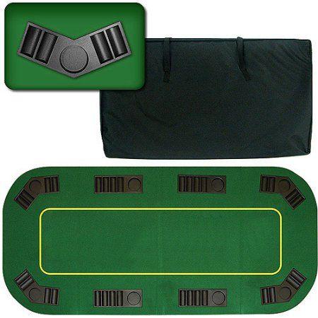 Trademark Poker 80 inch Deluxe Texas Hold'em Folding Poker Table Top, Multicolor