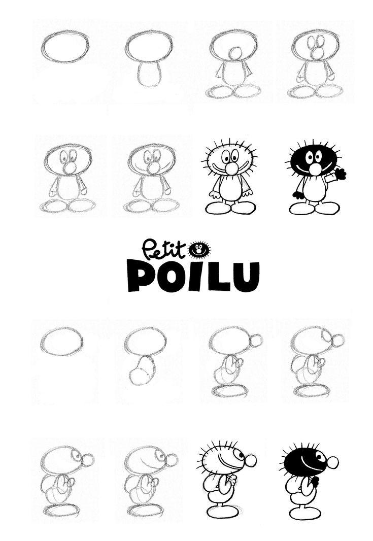 dessiner petit poilu