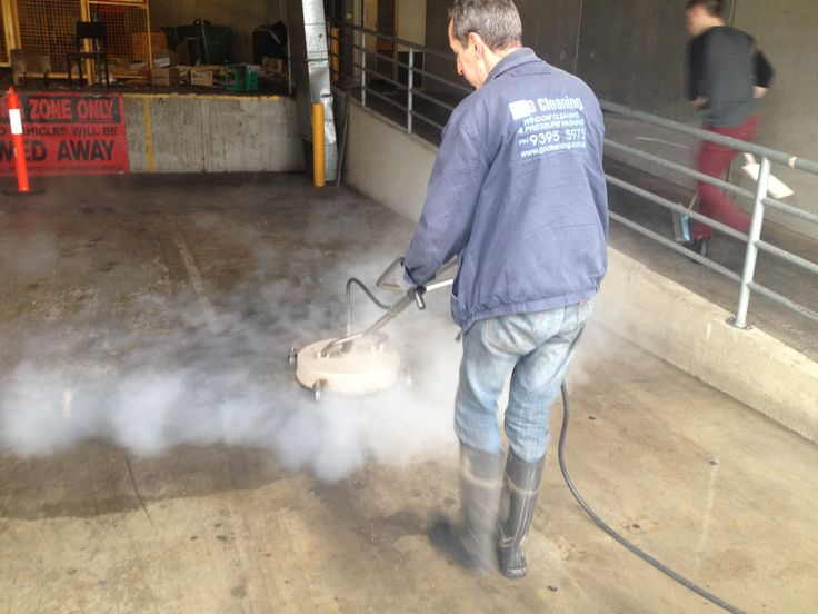 Here Go Cleaning is washing very dirty loading bay. Hot water will kill the germs and give the best results possible.