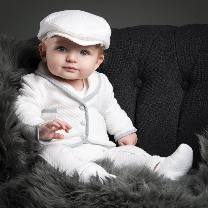 Our Peter 3-Piece Set is a stunning suit for your baby. At ChristeningGowns.com we specialize in cute dresses and gowns for christenings, baptisms, and unique events.