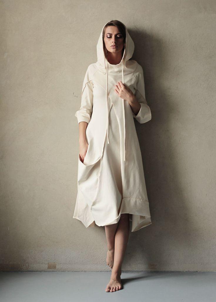 """Купить Платье """"Купол - Зимняя сказка"""" - белый, белое платье, белый цвет, асимметрия"""