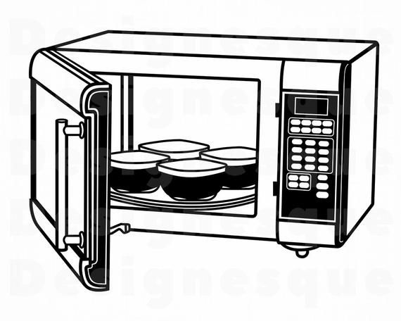 Microwave 5 Svg Microwave Svg Kitchen Oven Microwave Etsy In 2021 Microwave Svg Clip Art