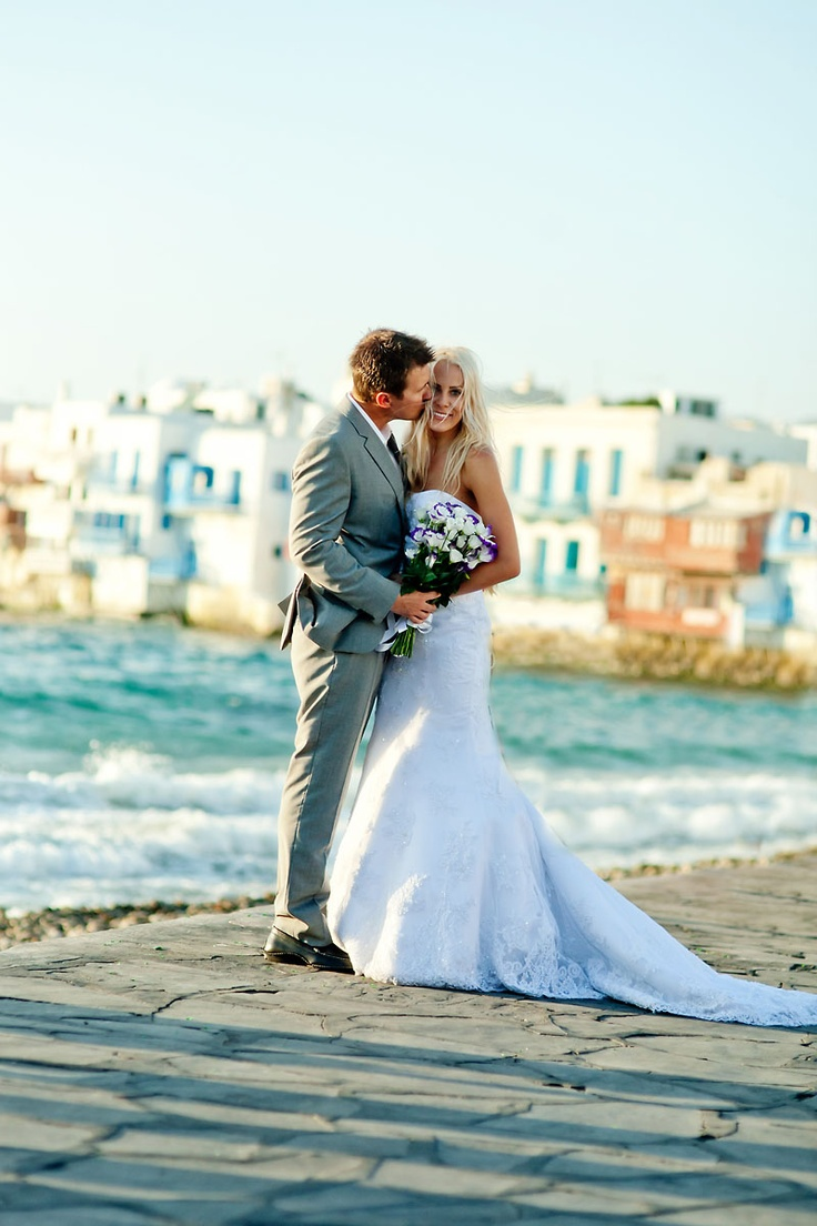 Once Upon A time... Tyler & Amber. Mykonos Island destination wedding. Mykonos Exclusive weddings