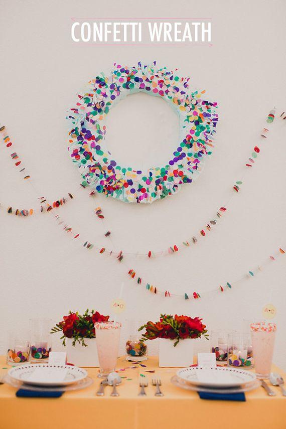 DIY Confetti Wreath