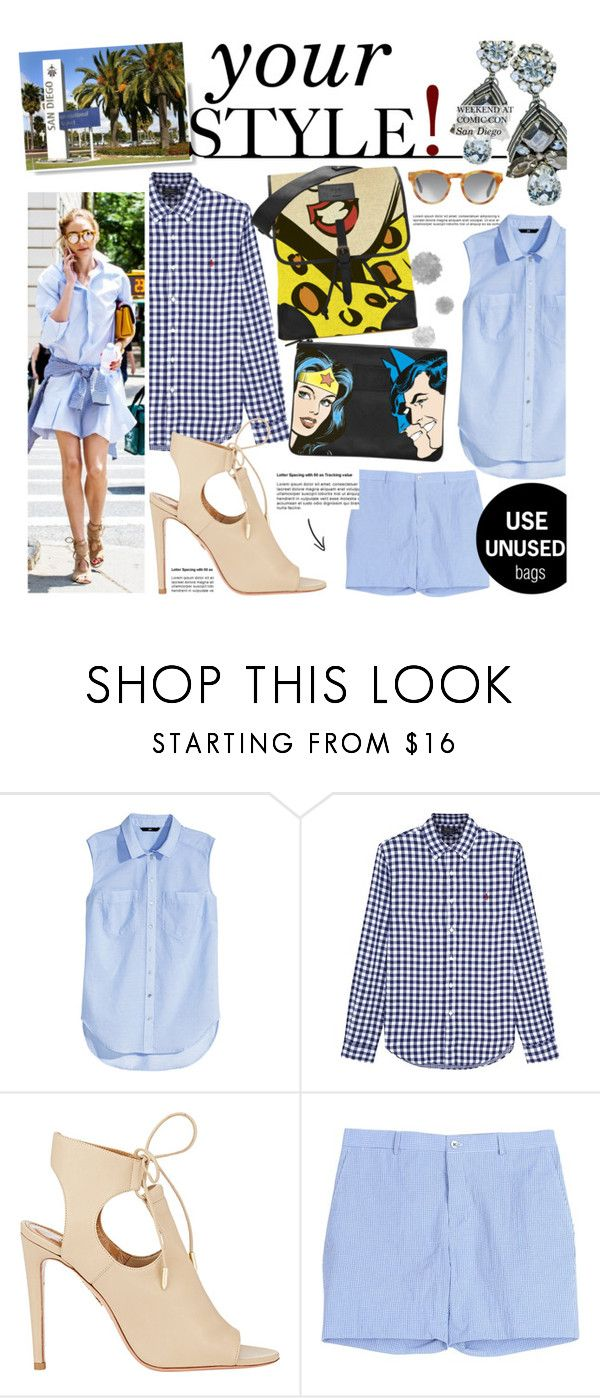 """""""Untitled #314"""" by zitanagy ❤ liked on Polyvore featuring H&M, Polo Ralph Lauren, Aquazzura, Rienne and Hardy Amies"""
