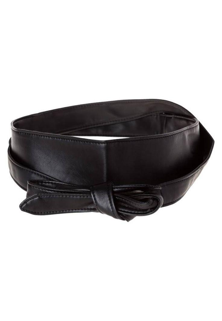 ONLY. ONLMICK  - Cintura - black. #cintura #cinture #vitaalta #zalandoIT #fashion Composizione:100% Poliuretano. Lunghezza:215 cm nella taglia One Size. Chiusura:Nodo. Larghezza:7.5 cm nella taglia One Size. Fantasia:monocromo
