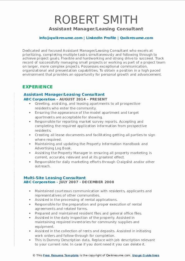 Resume For Leasing Agent With No Experience Printable Resume Template In 2020 Sales Resume Examples Marketing Resume Resume Examples