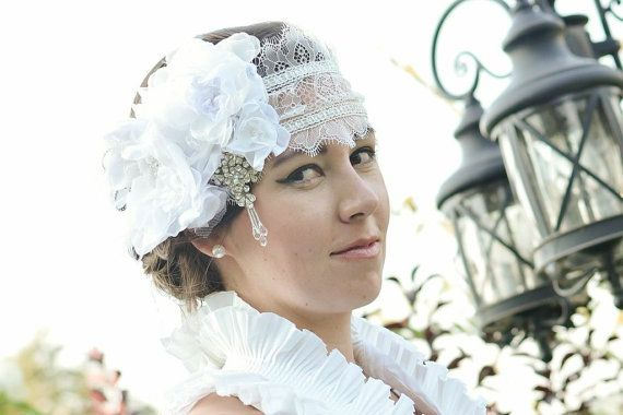Chantilly Lace Cap / Headband by JArendsDesigns on Etsy