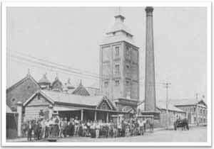 Perkins Brewery in Toowoomba,Queensland which stood on the site of Grand Central Shopping Centre.It was here that XXX (3X) was produced as the forerunner to the famous XXXX (4X).