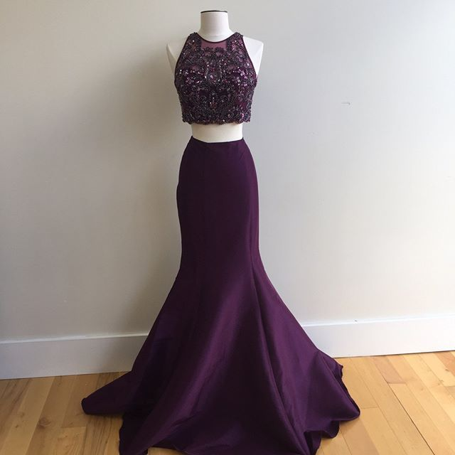 A simple fit and flare skirt with a gorgeous beaded top! And we are in love with this color!! #twirl #shoptwirl #prom #prom2k16 #twirlprom2k16