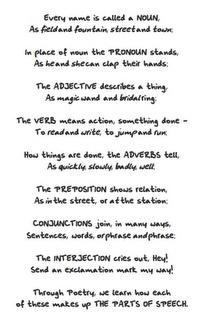 Free Parts of Speech Poem.