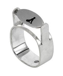 Placid Embrace thaumatrope ring - $286