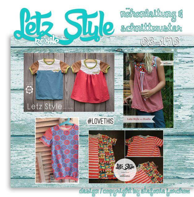 Letz Style - dein Basic-Shirt # von Rosile # Gr 68 - 176