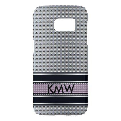 Metallic monogram template samsung galaxy s7 case - chic design idea diy elegant beautiful stylish modern exclusive trendy