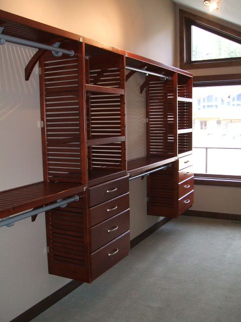 High Quality John Louis Home Solid Wood Shelving System For Bedroom Closet.