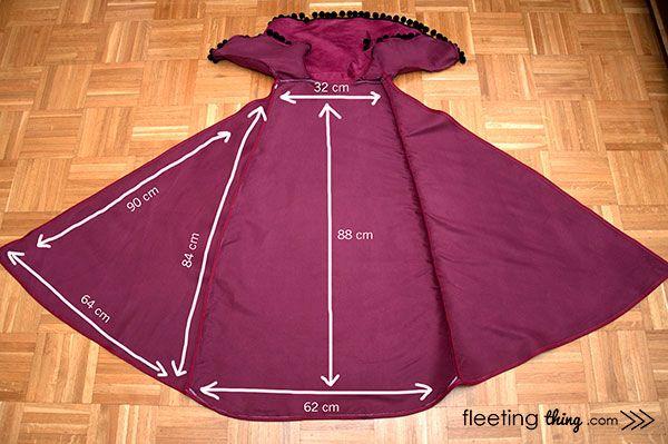 fleetingthing » Frozen Anna winter costume (free pattern and tutorial + stencils)