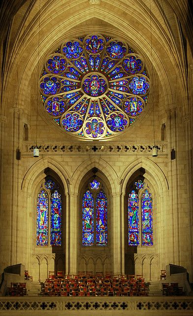 Washington National Cathedral...rose window is beautiful!