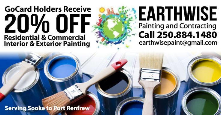 Does your home or building need a makeover? A fresh coat of paint can make all the difference! Call Kelli Canning at Earthwise Painting & Contracting for a free estimate. Residential, commercial, interior & exterior... Earthwise does it all. Click here for more info: http://thegocard.ca/earthwise-painting-contracting Get a GoCard here//bit.ly/2qlGbI2