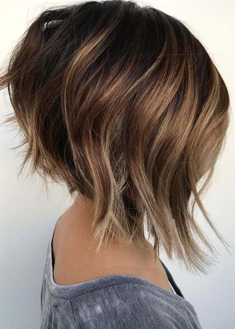 52 Textured Angled Bob Haircuts & Hairstyles in 2018